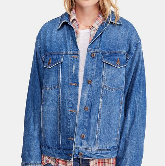 Free People Jackets & Blazers - Free People Ramona Oversized Boyfriend Jean Jacket